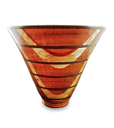 Laminated Koa Wood Vessel #117