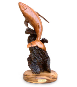 "Koa Wood Sculpture ""Sky Diver"""
