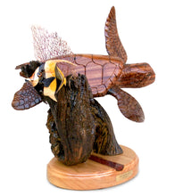 "Koa Wood Sculpture ""Life on the Reef"""