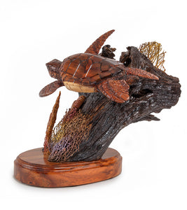 "Koa Wood Sculpture ""Island Adventurer"""