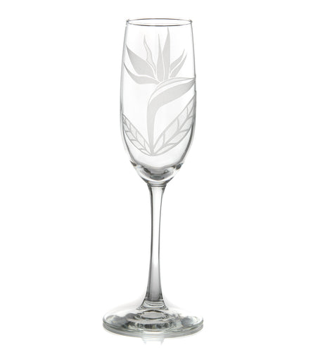 Etched Glassware Champagne