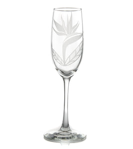 "Etched Glassware Champagne ""Bird of Paradise 24604"""