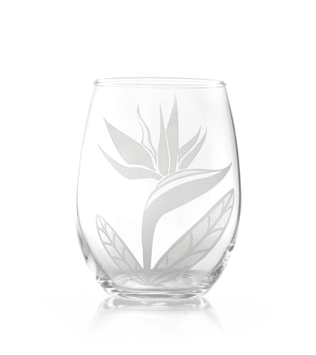 Etched Glassware Stemless Wine