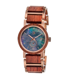 Karri wood Rose Gold, Black Mother of Pearl - 22551