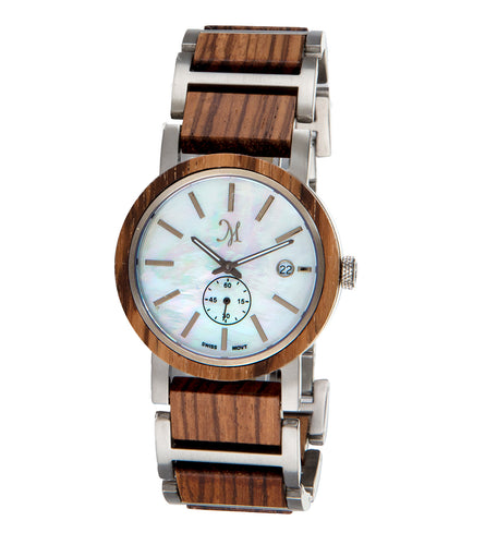 Zebrawood Silver, Mother of Pearl - 22821