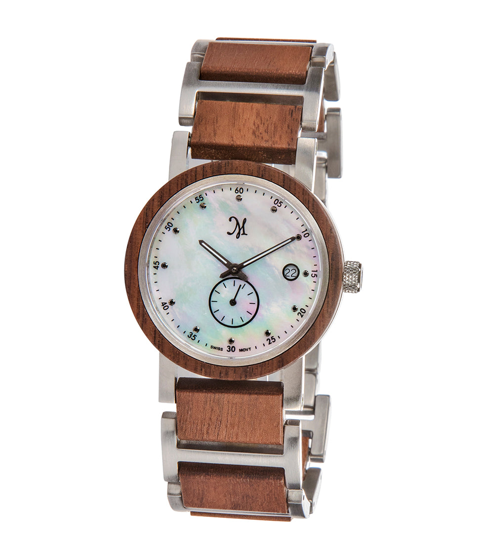 Walnut Silver, Mother of Pearl - 22531