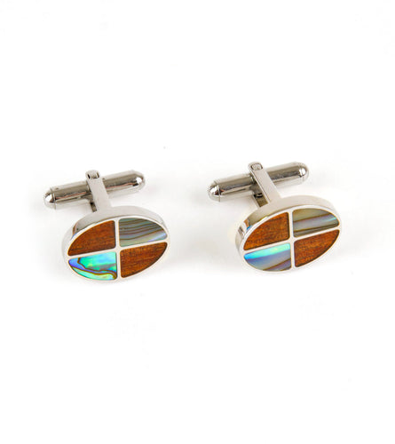 Koa Cuff Links - Paua