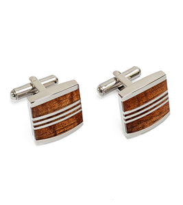 Koa Cuff Links - Rectangle