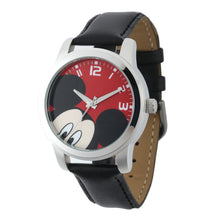 Disney® Mickey Mouse 38mm Quartz Casual Sport Leather Strap Watch