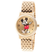 Disney® Mickey Mouse Quartz 38mm or 44mm Champagne Dial Gold-tone Bracelet Watch