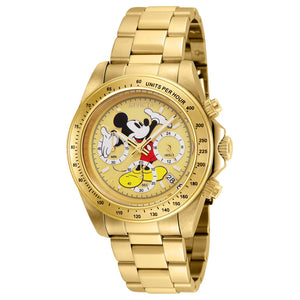 Disney® Mickey Mouse Men's 40mm Limited Edition Quartz Gold-tone by Invicta
