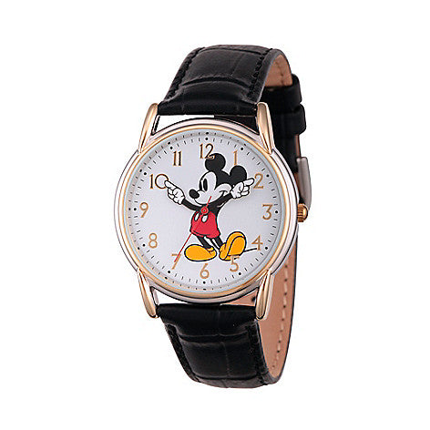 Disney® Mickey Mouse Women's Two-tone Cardiff Quartz Leather Strap Watch