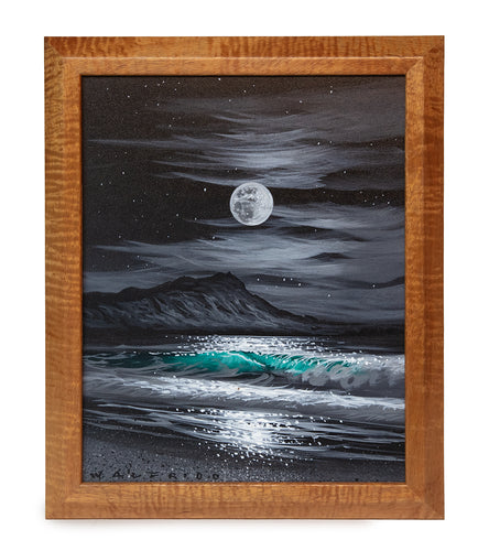 Original Acrylic Painting on Wood: Diamond Head Memory 29021 by Walfrido Garcia