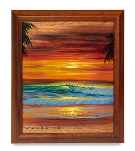 Original Acrylic Painting on Koa: Island Sun by Walfrido Garcia