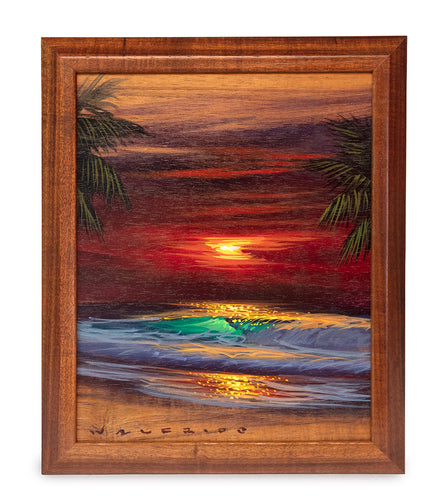 Original Painting on Koa: Koa Sunset by Walfrido Garcia