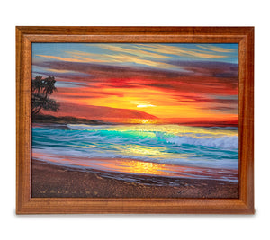 Original Acrylic Painting on Wood: North Shore Escape by Walfrido Garcia