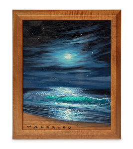 Original Painting on Koa: Veil of Moonlight by Walfrido Garcia
