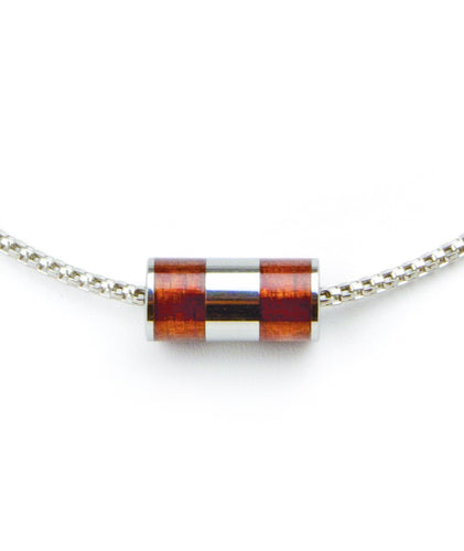 Koa Eternity Barrel Pendant