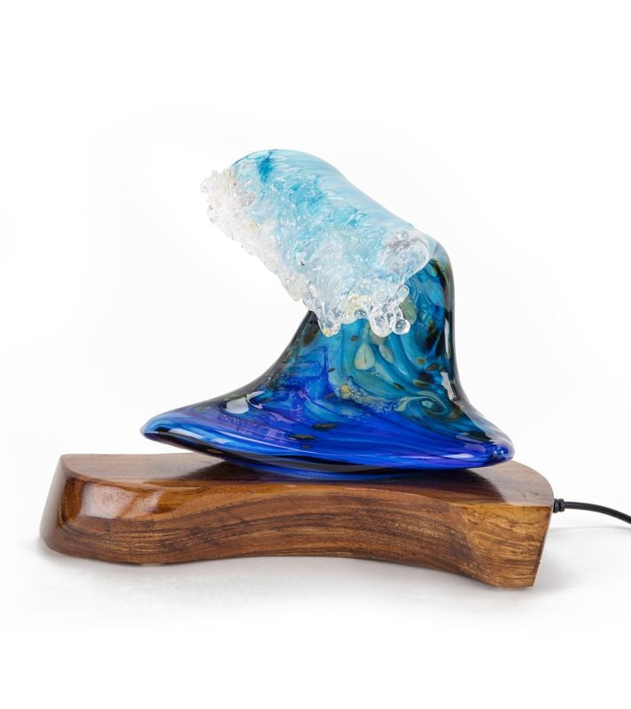 Glass Sculpture with Base