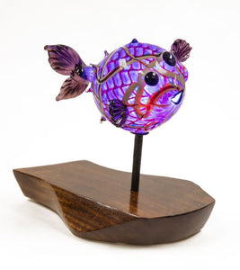 "Glass Sculpture ""Puffer Fish"" Large"