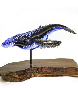 "Glass Sculpture ""Humpback Whale"""