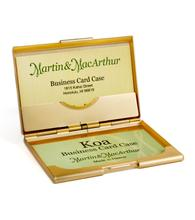 Koa Business Card Pocket Case - Gold