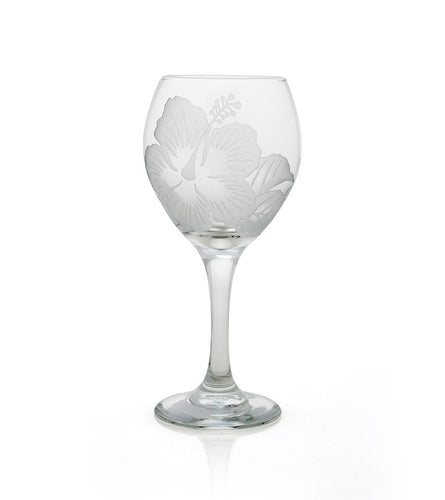 Etched Glassware- Hibiscus Wine