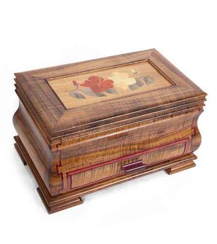 Koa and Purple Heart Jewelry Box
