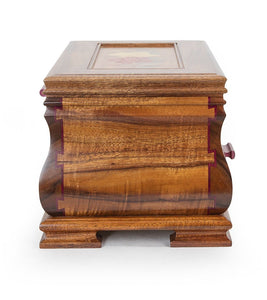 "Jackson Koa and Purple Heart Jewelry Box ""Hibiscus"""