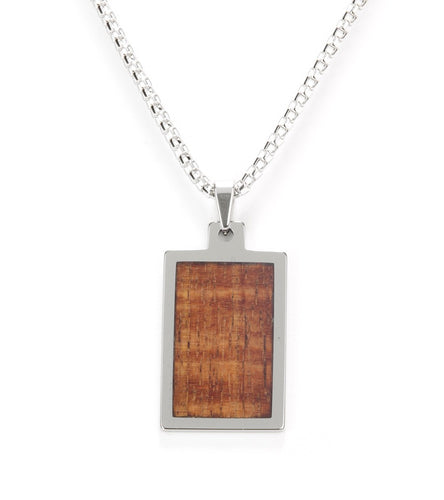 Koa Eternity Dog Tag Pendant