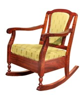 Koele Rocking Chair Upholstered Back