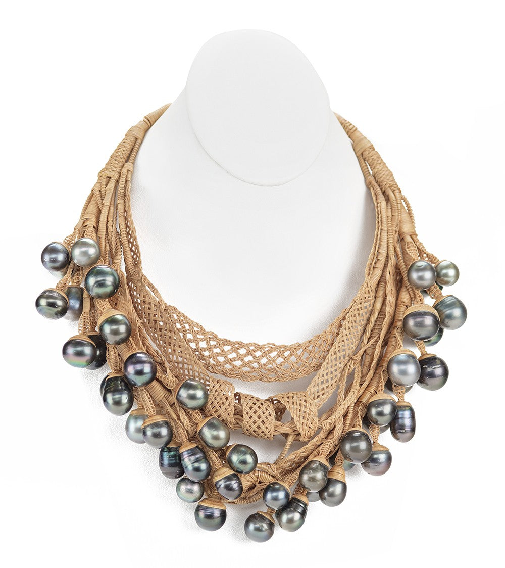 Draped Pearl Necklace