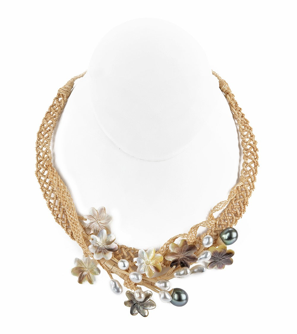 Pearl Garden Collar Necklace