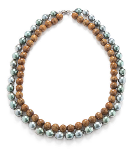 Pearl Koa Strand Necklace