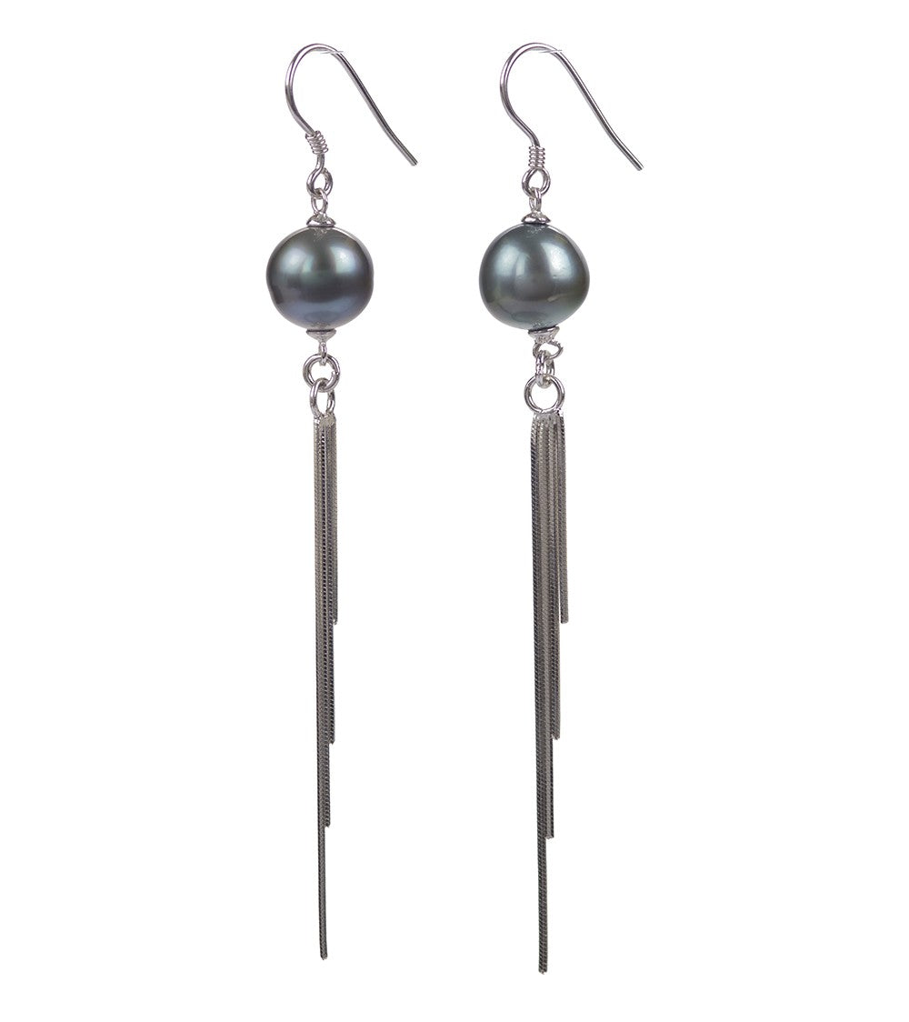 Liquid Rain Pearl Earrings