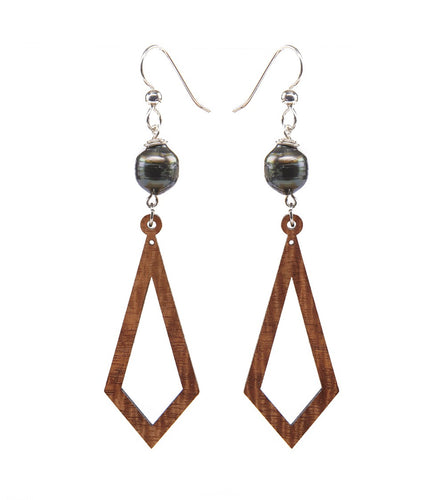 Koa Pearl Silver Earrings