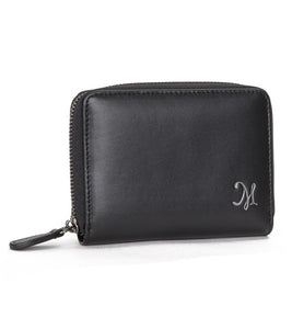 Men's Zipper Wallet Black