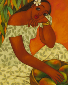 "Limited Edition Giclee 24 x 30 ""Mango Girl"""