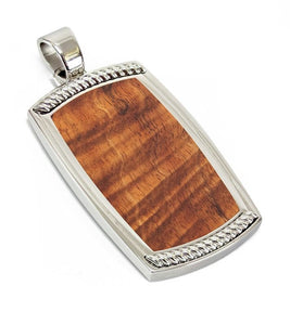 Koa Dog Tag Pendant