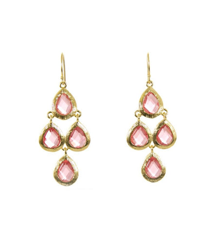 Pink Glass Kite Earrings