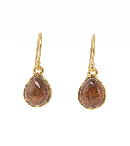 Koa Single Tear Earrings