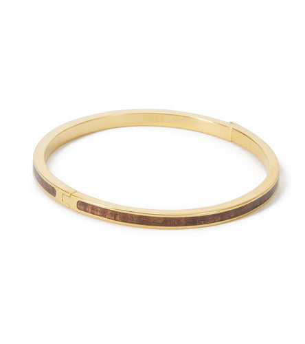 Skinny Koa Gold Bangle