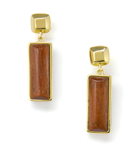 Rectangle Drop Earrings Koa Fine Jewelry