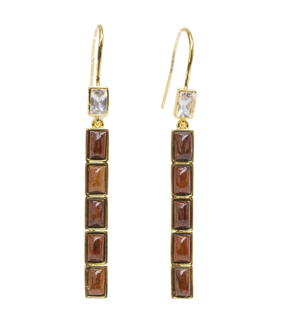 Koa Vertical CZ Earrings Koa Fine Jewelry