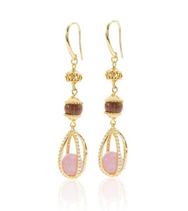 Koa Royal Hawaii Large Drop Earrings Koa Fine Jewelry