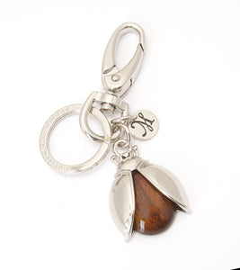 Koa Ladybug Key Ring in Rhodium Koa fine Jewelry