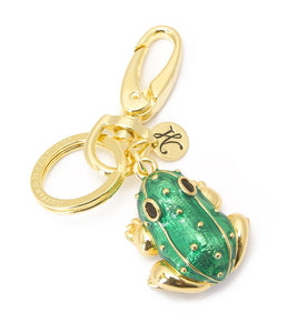 Koa Lucky Frog Key Ring in Gold Koa Fine Jewelry