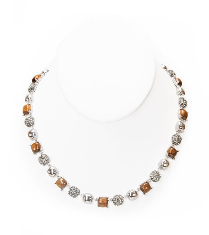 Koa Pave Square Necklace