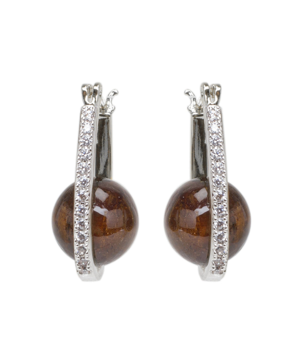 Koa Hoop Earrings Rhodium Koa Fine Jewelry