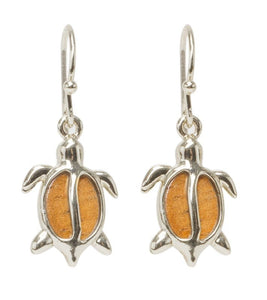 Koa Petro Rhodium Honu Earrings